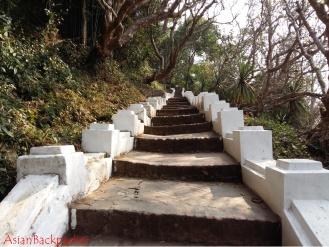 Staircase up to Mount Phousi